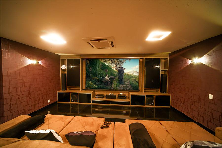 Seu cinema em casa imagem digital home - Sala cinema in casa ...